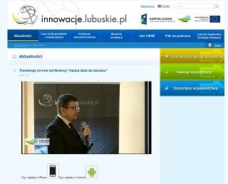 """Transmisja Internetowa Konferencji """"Nauka idzie do biznesu"""""""